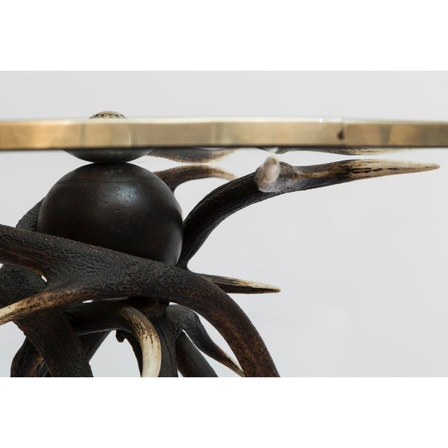 19th Century Lodge Antler Based Side Table For Sale - Image 4 of 13