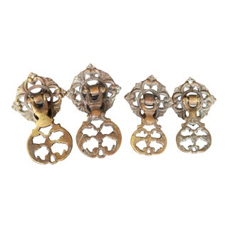 Antique French Door Pulls - Set of 4 For Sale