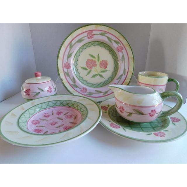 Service for 8 - Bella Ceramica Tuscan Pottery Dinnerware For Sale - Image 13 of 13