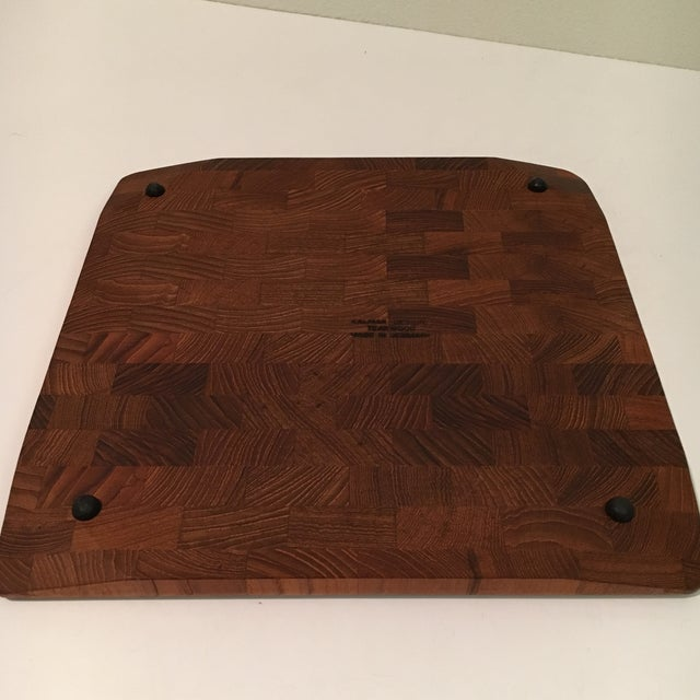 Mid-Century Kalmar Designs Teakwood Serving Tray For Sale In Houston - Image 6 of 9