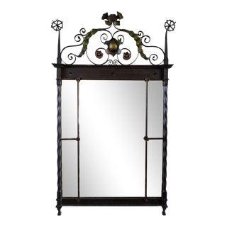 Vintage Steel Handmade Mirror For Sale