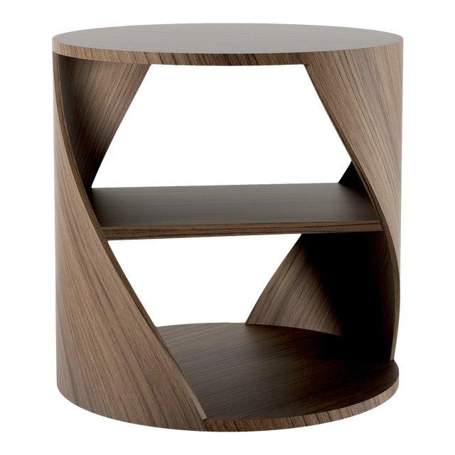 Mydna Teak Decorative Side Table by Joel Escalona For Sale