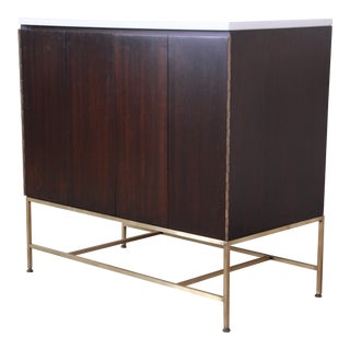 Paul McCobb Irwin Collection Mahogany and Brass Sideboard Cabinet, 1950s For Sale
