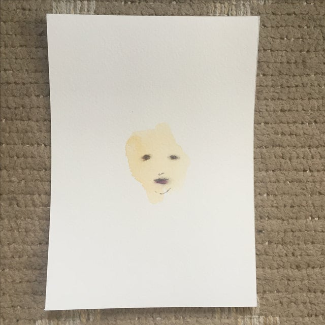 Lori Fox Abstract Watercolor Face - Image 2 of 5