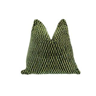 Scalamandre Allegra Pillow, Emerald For Sale