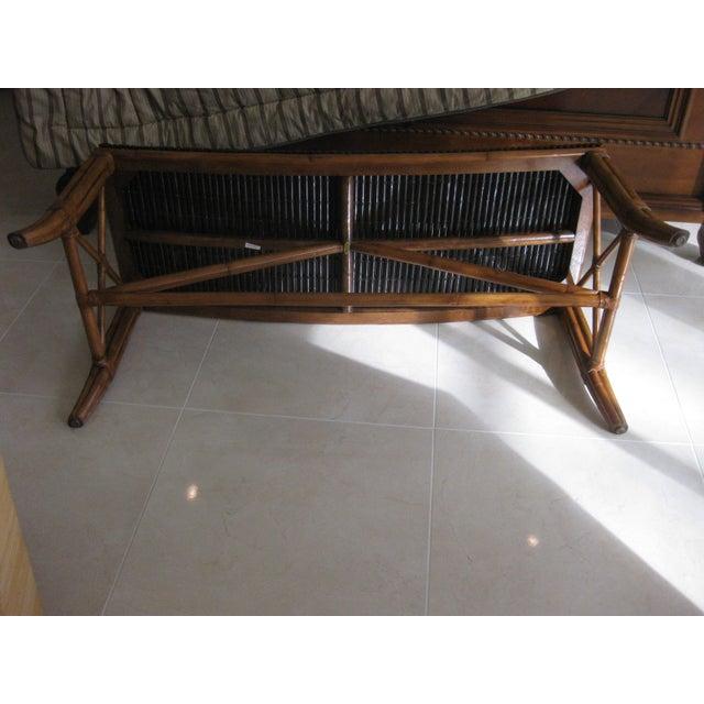 Remarkable Palecek Rattan Bench Theyellowbook Wood Chair Design Ideas Theyellowbookinfo