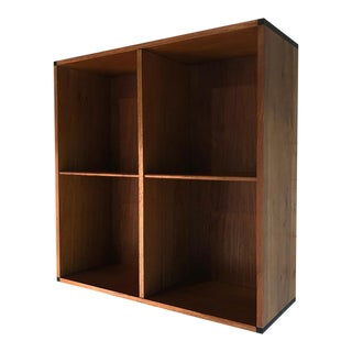Vintage Aksel Kjersgaard Danish Teak Wall-Mounted Bookcase For Sale