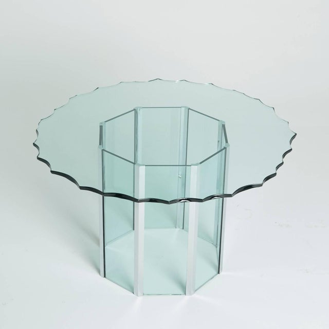 1970s Custom Glass and Chrome Table by Pace - Image 2 of 7