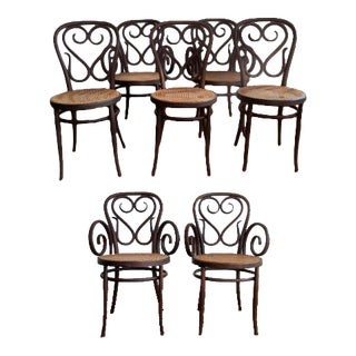 Salvatore Leone Bentwood Dining Chairs - Set of 8 For Sale