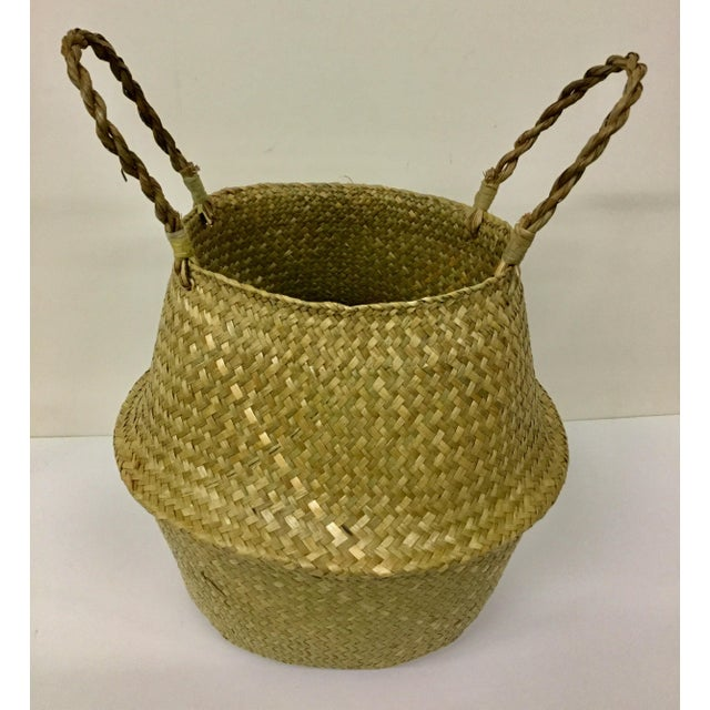 Natural Straw Collapsible Basket For Sale - Image 12 of 12