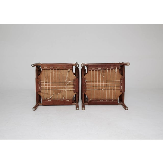 Arne Norell Rosewood and Brown Leather Safari Sirocco Chairs, Sweden, 1960s For Sale - Image 6 of 9