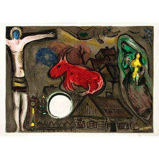 "Marc Chagall ""The Crucifixion"" Lithograph Poster For Sale"