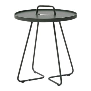 Cane-Line On-The-Move Side Table, Small, Dark Green For Sale