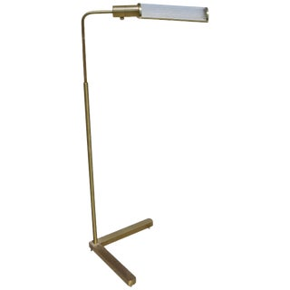 Brass Pharmacy Floor Lamp With Glass Rod Shade by Casella For Sale