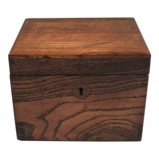 19th Century English Wood Tea Caddy For Sale