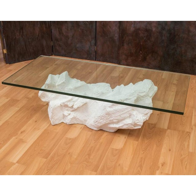 Sirmos White Plaster Rocks Coffee Table - Image 2 of 6