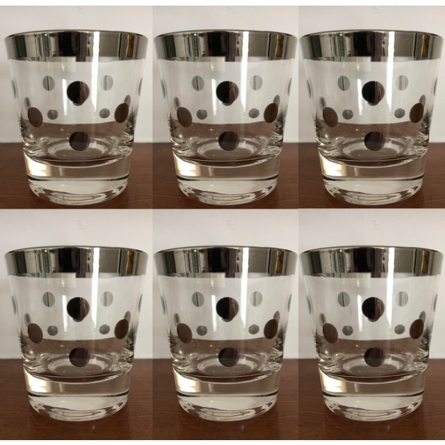 1960s Dorothy Thorpe Polka Dot Glasses - Set of 6 For Sale - Image 5 of 5