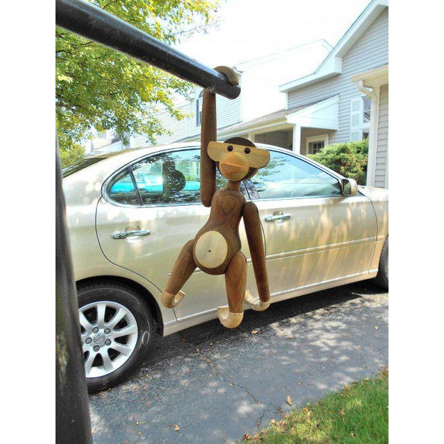Vintage Carved Wooden Hanging Monkey - Image 6 of 10
