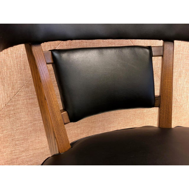Oak Pair of Romweber Carved Oak Lounge Chairs For Sale - Image 7 of 8