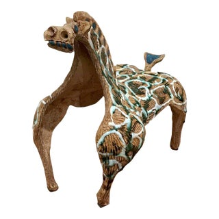 1960s Hal Fromhold Modernist Ceramic Horse Sculpture For Sale