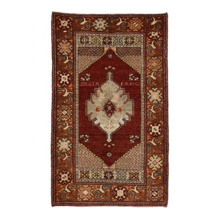 Vintage Turkish Oushak Rug with Traditional Modern Style For Sale
