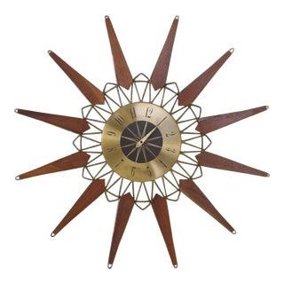 Mid-Century Starburst Clock