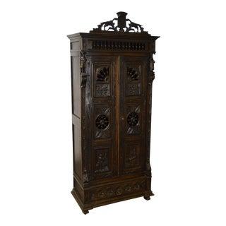Antique Jacobean Flemish Carved Cabinet