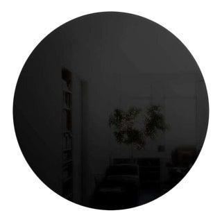 Art Deco Style Round Black Wall Mirror