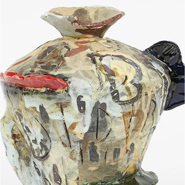 Abstract Translated Ceramic Vase 2 from Korean-American David T. Kim For Sale - Image 3 of 5