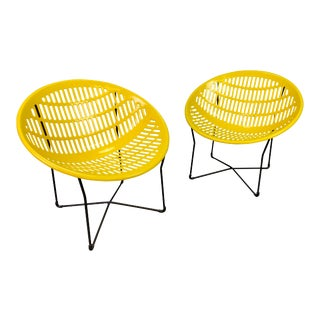 """Vintage Mid Century Modern """"Solair"""" Patio Lounge Chairs by Fabiano & Panzini - a Pair For Sale"""