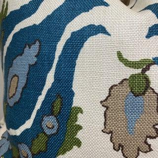 """Brunschwig & Fils """"Kashmiri Linen Print Teal/Taupe"""" 22"""" Pillows-A Pair Preview"""