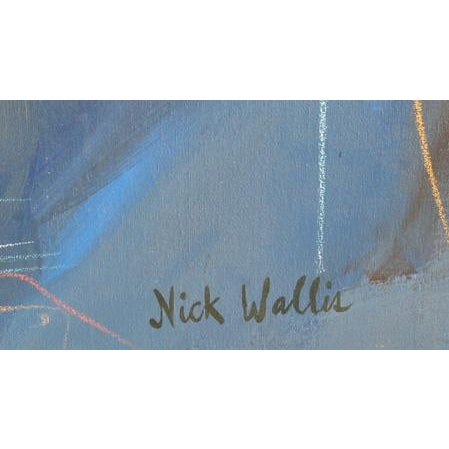 Abstract Nick Wallis, More Afterthoughts 17, Acrylic on Canvas, Signed l.r. For Sale - Image 3 of 4