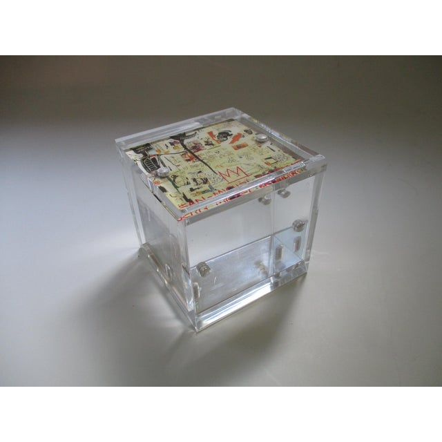 Lucite Cube Paperweight Picture Frame - Image 5 of 9
