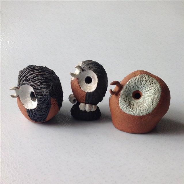 Mid-Century Modern Mid-Century Modern Studio Pottery Owls - Set of 3 For Sale - Image 3 of 11