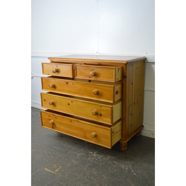 Wexford Collection Country Pine 2 Over 3 Chest of Drawers For Sale - Image 4 of 13