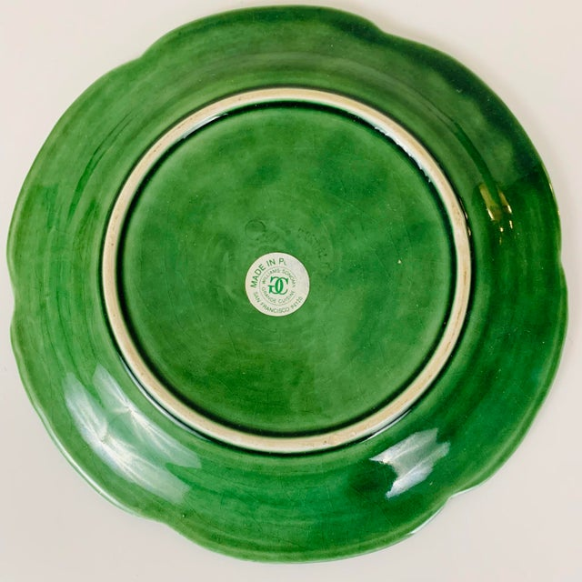 Vintage Williams Sonoma Green Cabbage Plates - Set of 4 For Sale In Washington DC - Image 6 of 10