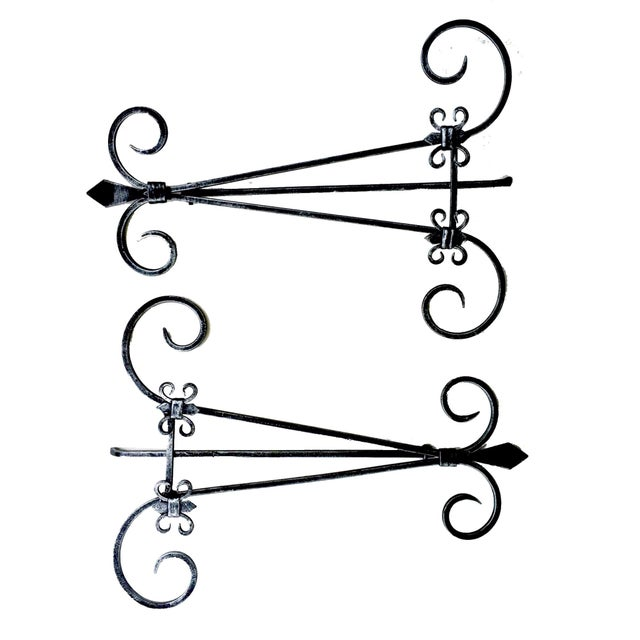 Shabby Chic Black Iron Finish Book Display Easels - a Pair For Sale - Image 3 of 6