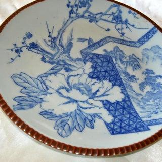 Sometsuke Blue White Meiji Pottery Charger Platter Preview