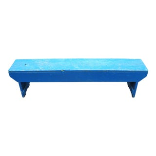 Antique Blue Farm Bucket Bench