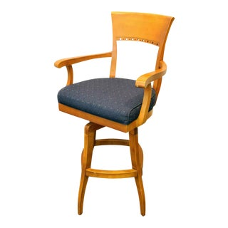 Blue High Top Swivel Chair For Sale
