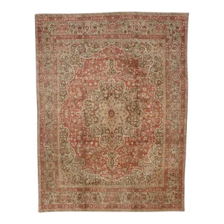 Haji Khalili Persian Tabriz Area Rug with Art Nouveau Style in Soft Colors For Sale