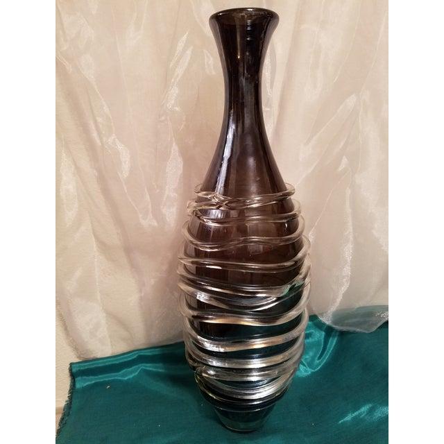 Murano Art Glass Modern Vase For Sale - Image 10 of 11