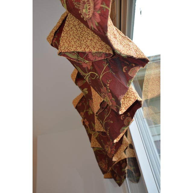 2000s Gold & Red Fabric Valance For Sale - Image 5 of 13
