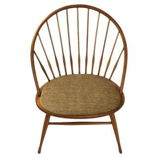 Modernist Windsor Style Chair Teak, Made in Sweden Attributed to Yngve Ekstrom For Sale