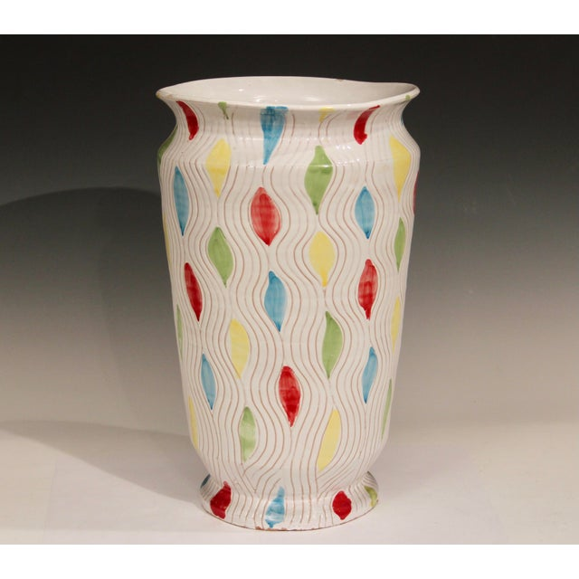 Italian Vintage Large 1960's Raymor Italian Pottery Vase For Sale - Image 3 of 10
