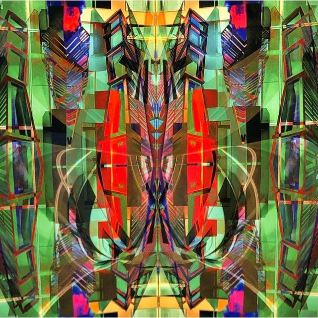 Modern Dan Freund Modernist Mixed Media Photographic Modern Art Aluminum Picture For Sale - Image 3 of 5