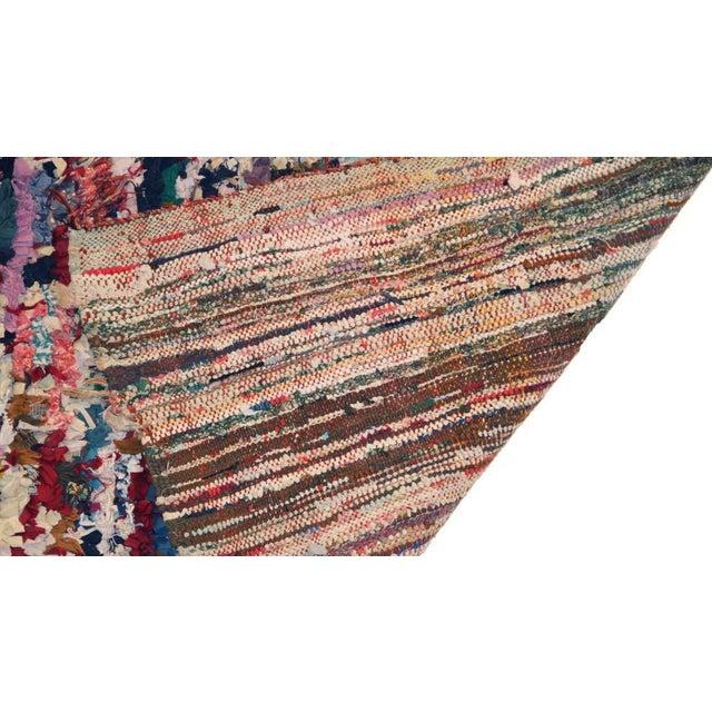 """Vintage Boucherouite Rag Rug - 3'7"""" x 6' - Image 3 of 3"""