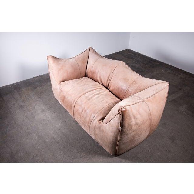 Leather 1970s Original Buffalo Leather Bambole Loveseat Sofa by Mario Bellini for B&b Italia For Sale - Image 7 of 9