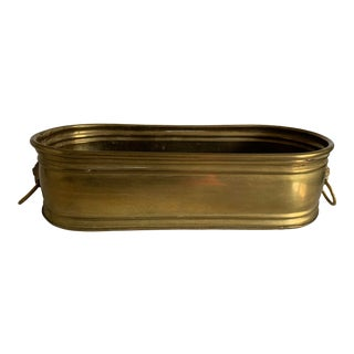 Vintage Brass Cachepot Planter For Sale