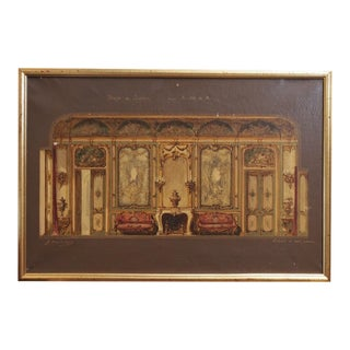 "19th Century Austrian ""Interior"" Artwork For Sale"